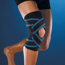 Open strapping knee brace